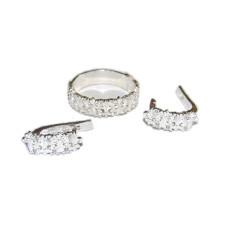 Комплект Диана - кольцо и серьги