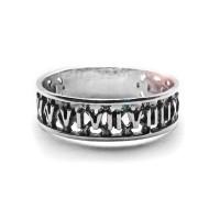 Серебряное кольцо Время
