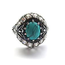 Кольцо Чалма с бирюзой