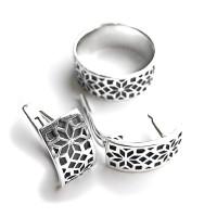 Комплект Вышиванка - кольцо и сережки