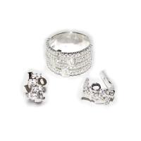 Комплект LOVE - кольцо и серьги