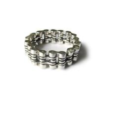 Кольцо мужское подвижное Мотоциклетная цепь