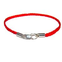 9003 Браслет красная нить с серебряными окончаниями