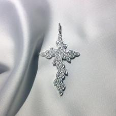 Крестик женский с камнями 4001