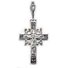 Серебряный крестик 4002