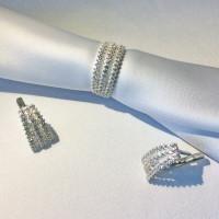 Серебряный комплект Радуга кольцо и серьги