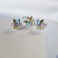 Комплект Цветы кольцо и серьги