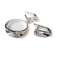 Комплект Модерн кольцо и серьги